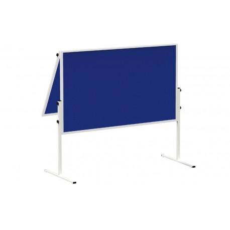 Pannello di moderazione fisso pieghevole, in feltro blu ,  150x1
