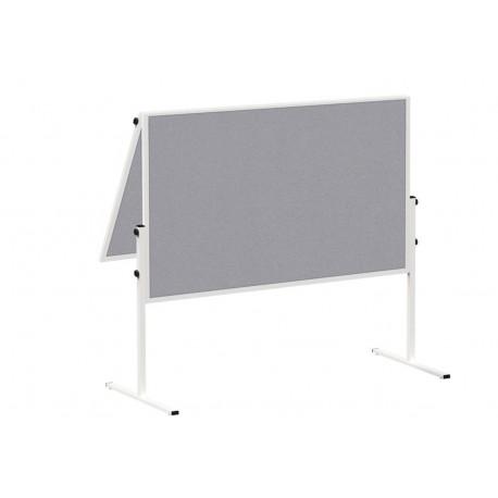 Moderationstafel solid klappb. Filz/Filz, 150x120 cm, grau
