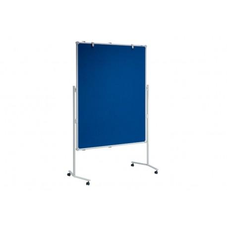 Moderationstafel professionell Textil/Textil, 150x120cm blau