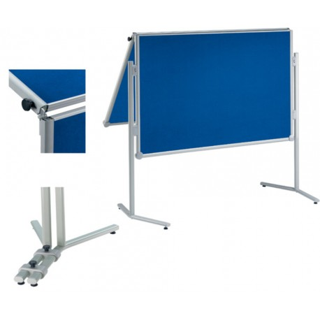 Moderationstafel prof. klappb. Textil/Textil blau, 150x120 cm