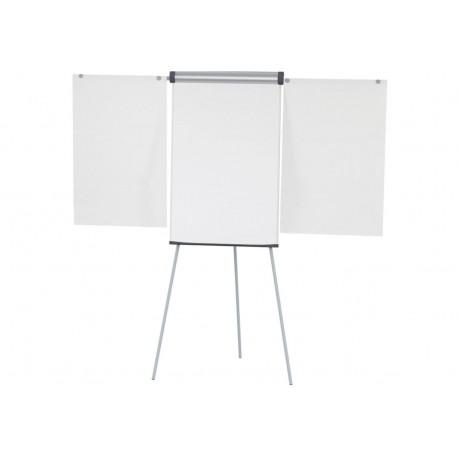 Flipchart solido Plus con 2 telai portacarta laterali
