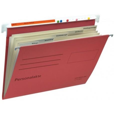 Cartella per documenti personali in cartone  rosso ,  compl.rubrica