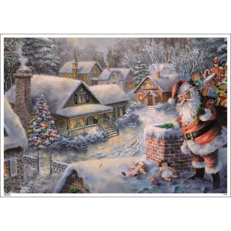Babbo Natale sopra il tetto
