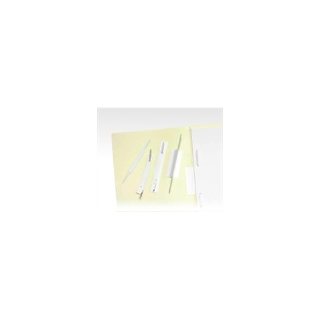 Linguetta fermafogli larga adesiva Set da 100