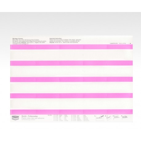 Folien-Tabs rosa