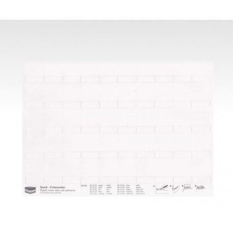Folien-Tabs weiß 28 x 10