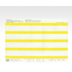 Folien-Tabs gelb