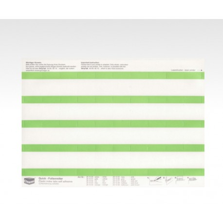 Folien-Tabs grün 28 x 10
