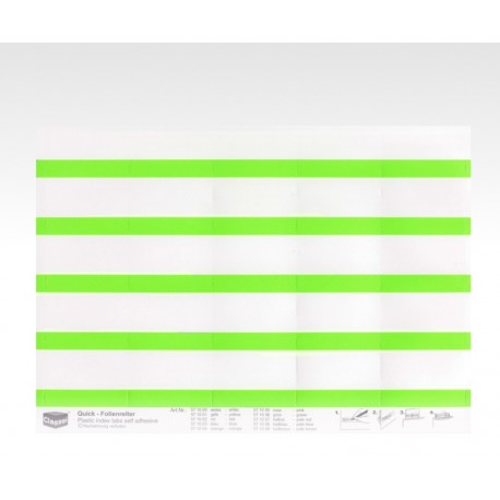 Segnalini con pellicola verde