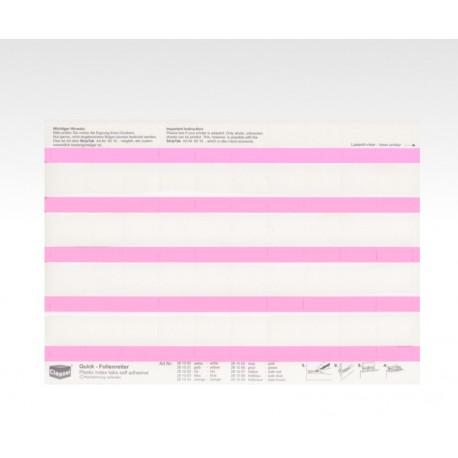 Folien-Tabs rosa 28 x 10