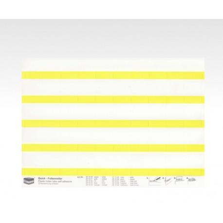 Folien-Tabs gelb 28 x 10