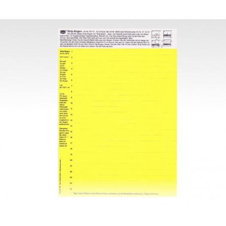 Cartellini descrittivi per cavalierini gialli