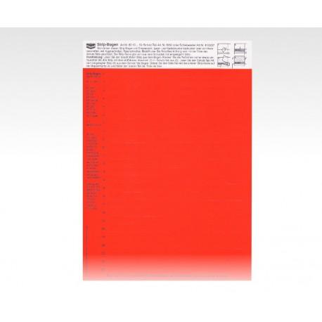 Cartellini descrittivi per cavalierini rosso