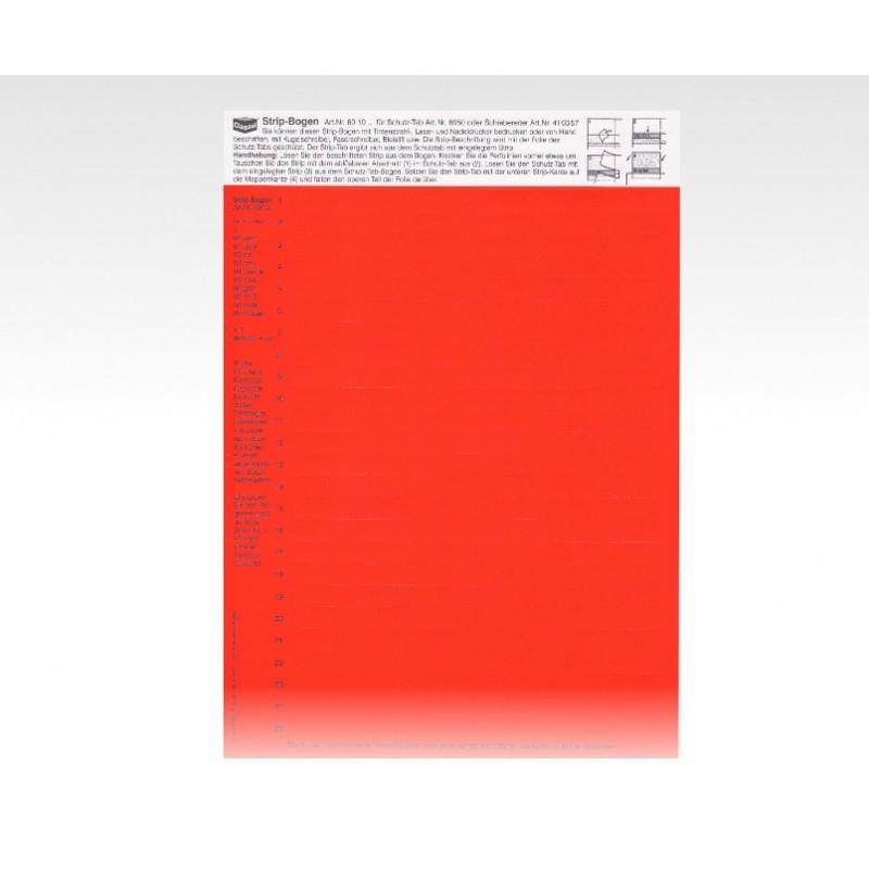 Cartellini Descrittivi Per Cavalierini Rosso Dan Vis
