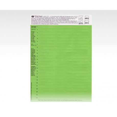Cartellini descrittivi per cavalierini verde