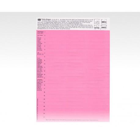 Cartellini descrittivi per cavalierini rosa