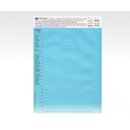 Strip-Tabs blau 10 x 57,5 mm