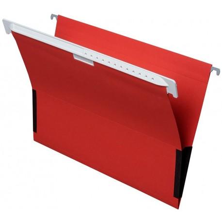 Cartella sospesa in cartone con protezione laterale , A4